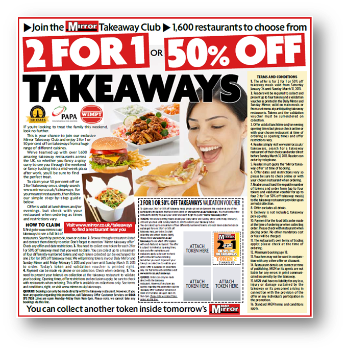 Daily Mirror Newspaper Sales Promotions