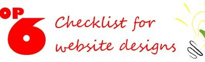 Website checklist of 26 things